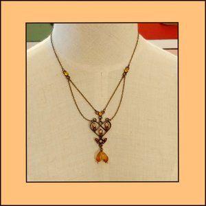 Vintage Heart Fashion Necklace
